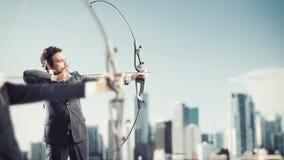 Défi pour de nouvelles cibles d'affaires de portée et de coup Photographie stock libre de droits
