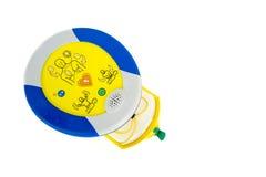 Défibrillateur ou AED externe automatisé Images stock