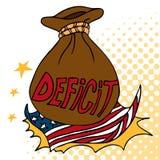 Déficit américain Photos libres de droits