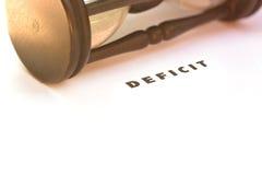 Déficit budgétaire Photo libre de droits