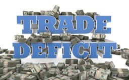 Déficit commercial commercial - libre échange des Etats-Unis Photo stock