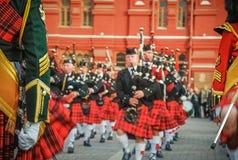 Défilé écossais photo libre de droits