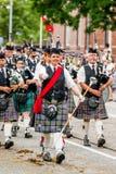 Défilé écossais d'orchestre de cornemuse Photo stock