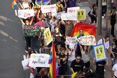 Défilé 2009 de fierté de Hong Kong Images libres de droits