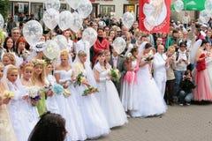 Défilé 2010 de mariées Photographie stock