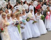 Défilé 2010 de mariées Photo libre de droits