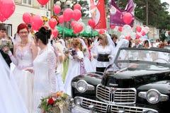 Défilé 2010 de mariées Image libre de droits