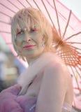 Défilé 2010 de sirène à l'île de lapin Image libre de droits