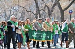Défilé 2012 du jour de Patrick de saint Image libre de droits