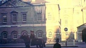 Défilé archivistique de cheval de Hampton Court Palace banque de vidéos