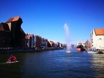 Défilé baltique de voile Regard artistique dans des couleurs vives de vintage Image libre de droits