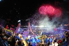 Défilé chingay 2012 de Singapour Image libre de droits