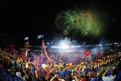Défilé chingay 2012 de Singapour Images libres de droits