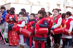 Défilé chinois de nouvelle année à Milan Images stock