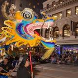 Défilé chinois de nouvelle année dans Chinatown Photo libre de droits