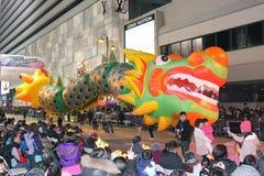 Défilé chinois international 2012 de nuit d'an neuf Image stock