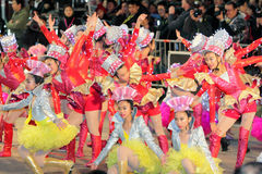 Défilé chinois international 2012 de nuit d'an neuf Photographie stock