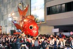 Défilé chinois international 2012 de nuit d'an neuf Photo libre de droits