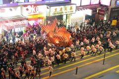 Défilé chinois international 2012 de nuit d'an neuf Photo stock