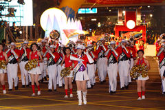 Défilé chinois international de nuit d'an neuf Images libres de droits