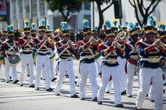 défilé civique militaire célébrant l'indépendance du Brésil photo libre de droits