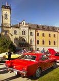 Défilé classique de voitures de vintage américain Images libres de droits