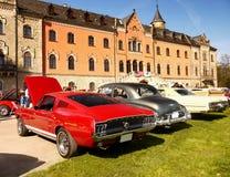 Défilé classique de voitures de vintage américain Photographie stock