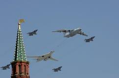 Défilé d'air à Moscou Images stock