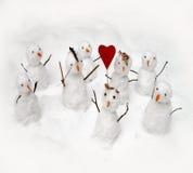 Défilé d'amour de l'hiver Image libre de droits