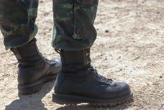 Défilé d'armée - bottes Image stock