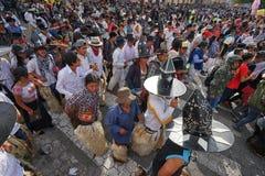 Défilé d'Inti Raymi en Equateur Photos stock
