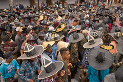 Défilé d'Inti Raymi en Equateur Photographie stock