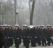 défilé d'officiers militaires Photos libres de droits