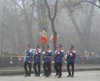 défilé d'officiers militaires d'infanterie Image libre de droits