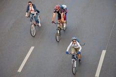 Défilé de bicyclette Images libres de droits