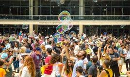 Défilé de bulle Photo libre de droits