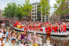 Défilé 2014 de canal d'Amsterdam Images libres de droits