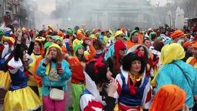Défilé de carnaval de Xanthi banque de vidéos