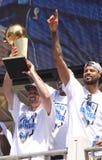 Défilé de champions de francs-tireurs de NBA image stock
