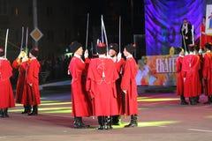 Défilé de Cosaques de Kuban de Russe Photo stock