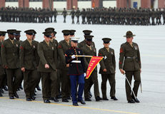 Défilé de diplômé de corps des marines d'Etats-Unis Image libre de droits