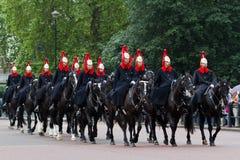 Défilé de dispositifs protecteurs de cheval photographie stock libre de droits