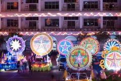 Défilé de festival d'étoile de Noël dans Sakhon Nakhon, Thaïlande Photographie stock