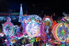 Défilé de festival d'étoile de Noël dans Sakhon Nakhon, Thaïlande Photo libre de droits