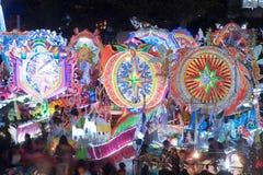 Défilé de festival d'étoile de Noël dans Sakhon Nakhon, Thaïlande Photographie stock libre de droits