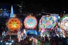 Défilé de festival d'étoile de Noël dans Sakhon Nakhon, Thaïlande Photos stock