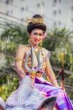 Défilé de festival de Sonkran image libre de droits