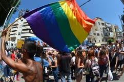 Défilé de fierté à Tel Aviv Image libre de droits