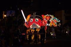 Défilé de flotteur de Nebuta dans la ville d'Aomori, Japon le 6 août 2015 Photographie stock libre de droits