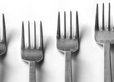 Défilé de fourchettes Photo stock